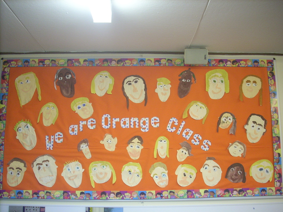 Orange class self portraits