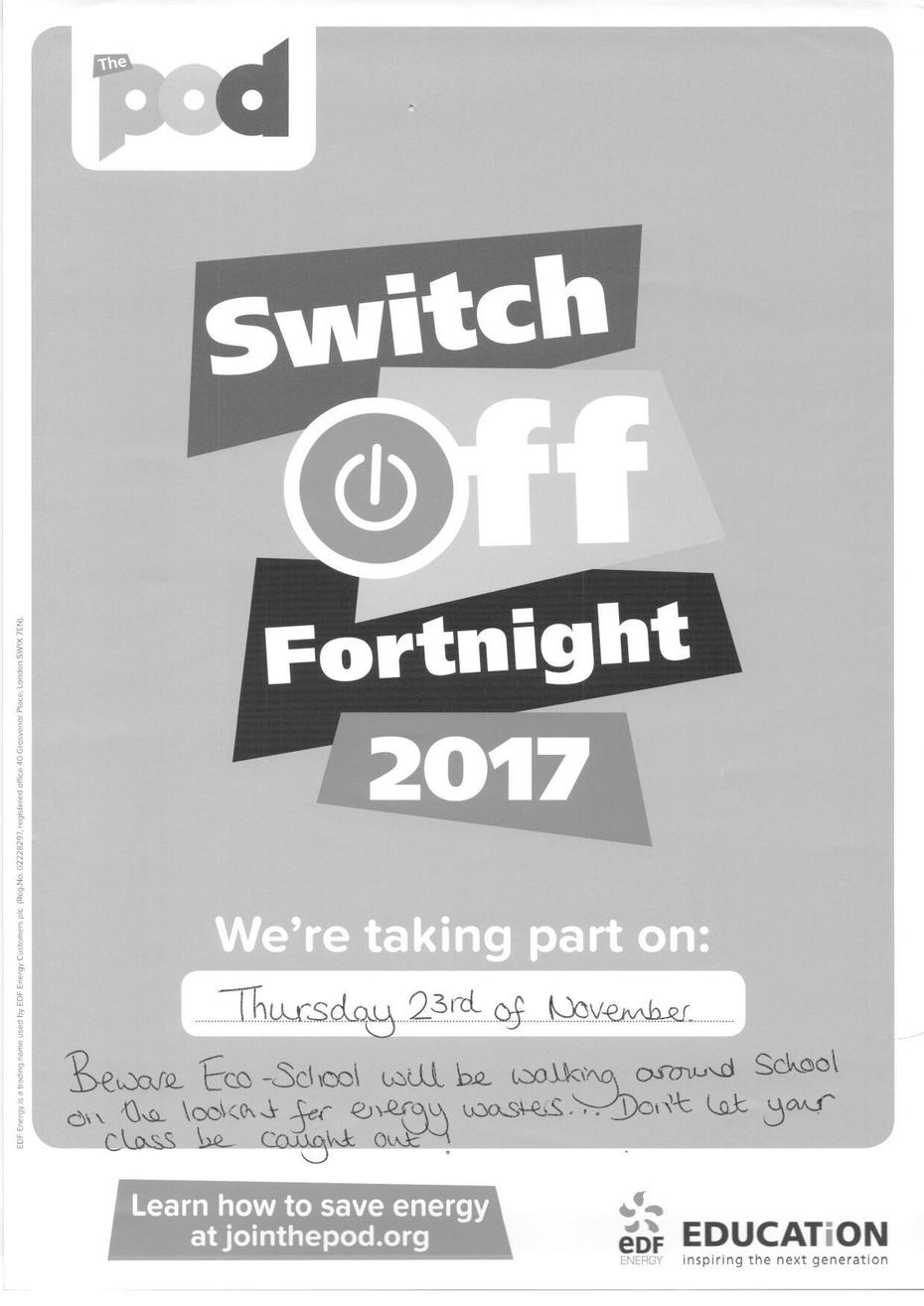 Switch off Fortnight poster