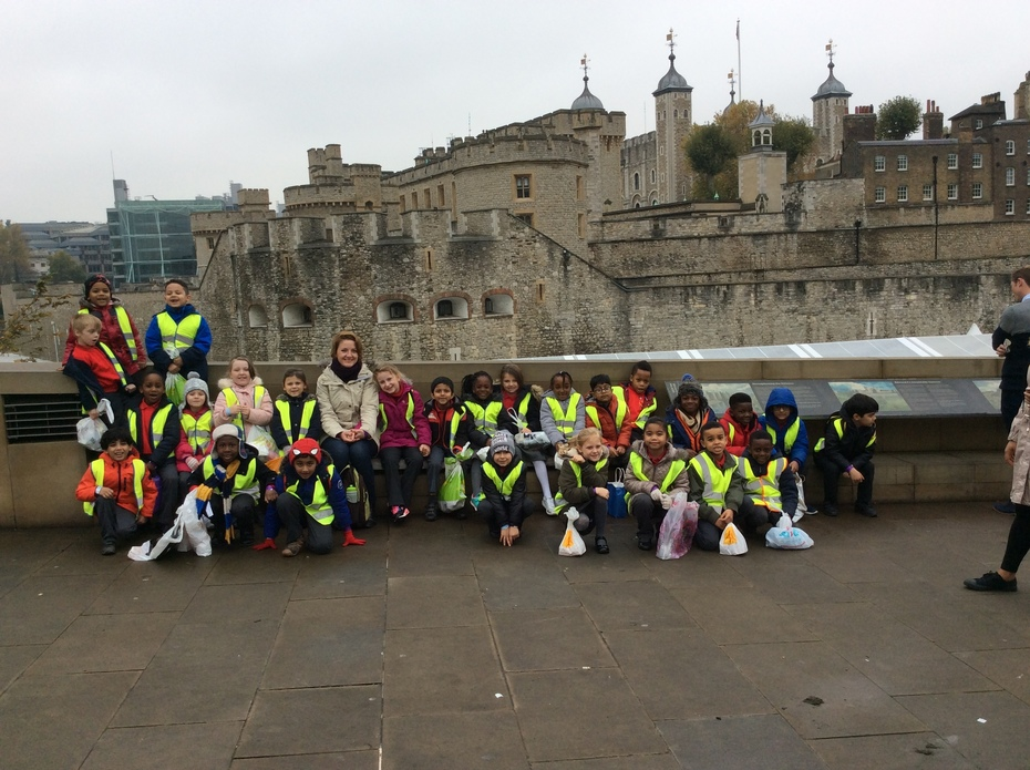 Our class at the Tower