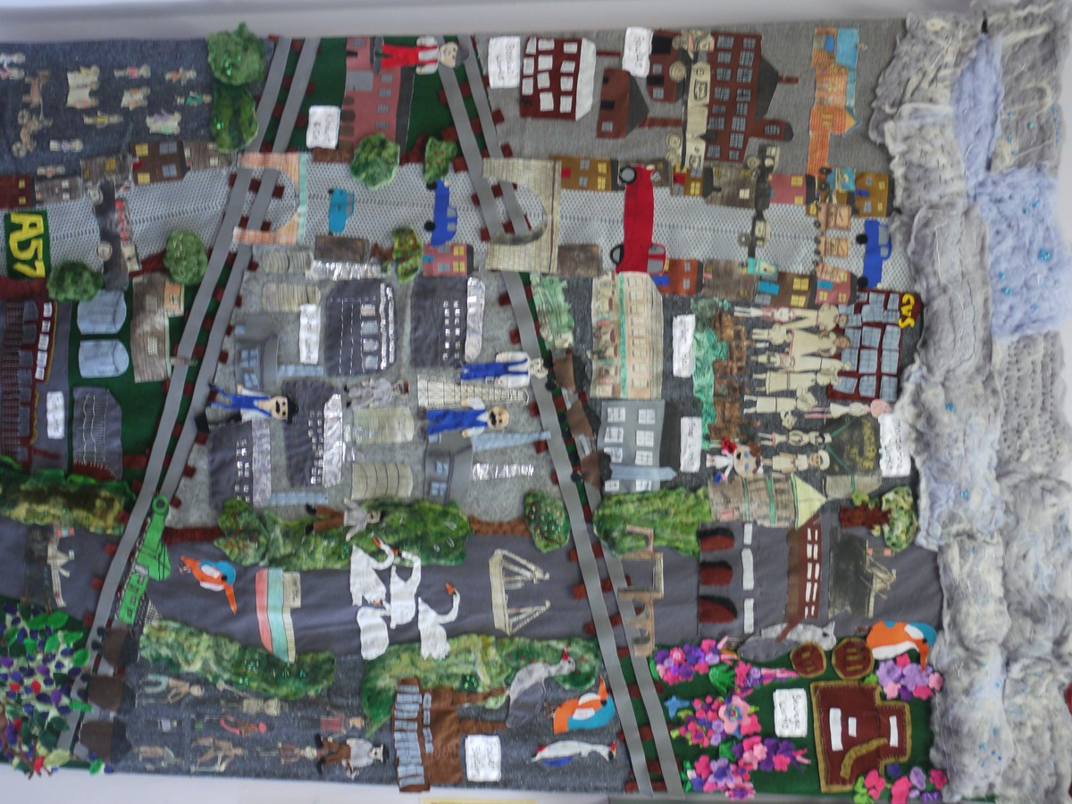 Year 6 have created a fabulous tapestry of our local industrial past. Come and see it in the Reception area.