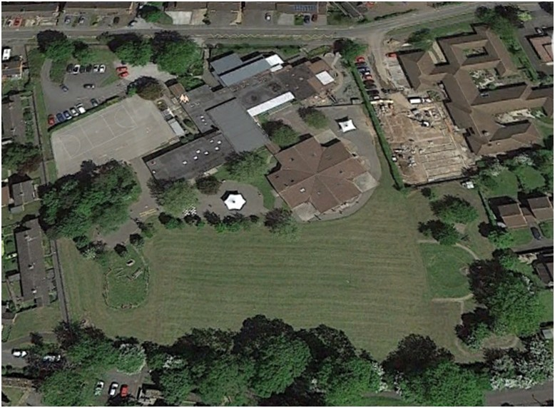 school ariel view