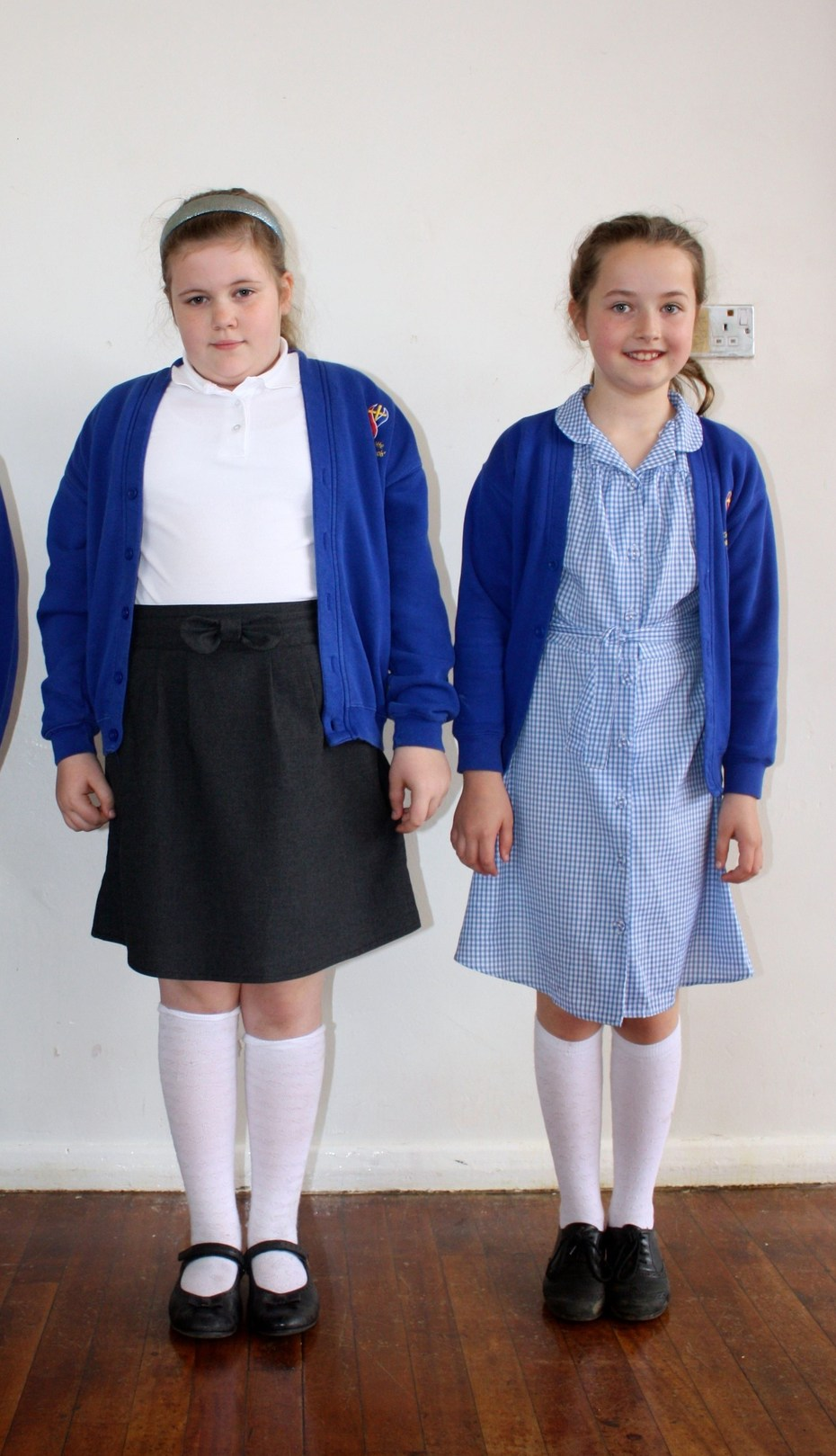 Girls winter and summer uniform