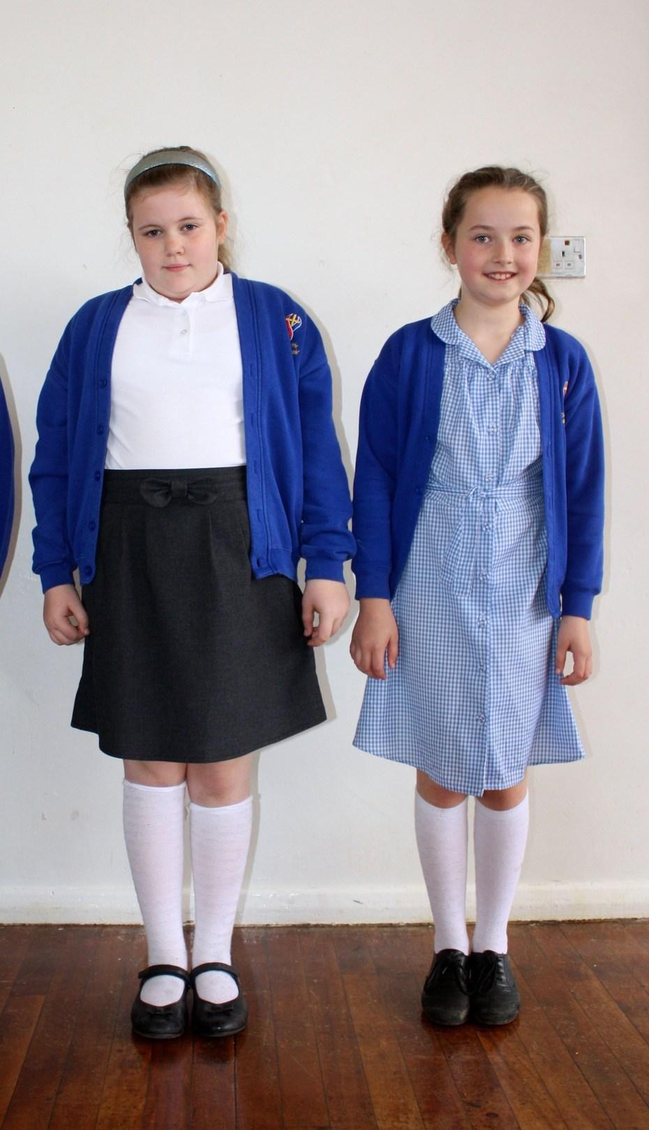 Girls winter and summer uniform