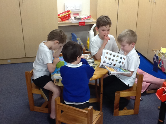 Our children reading together