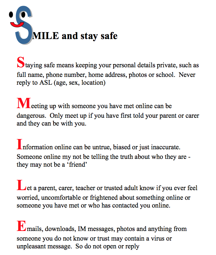 The Hyde School - Online safety