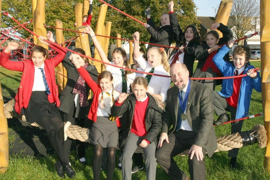Pooley Green park opening by Hythe School children