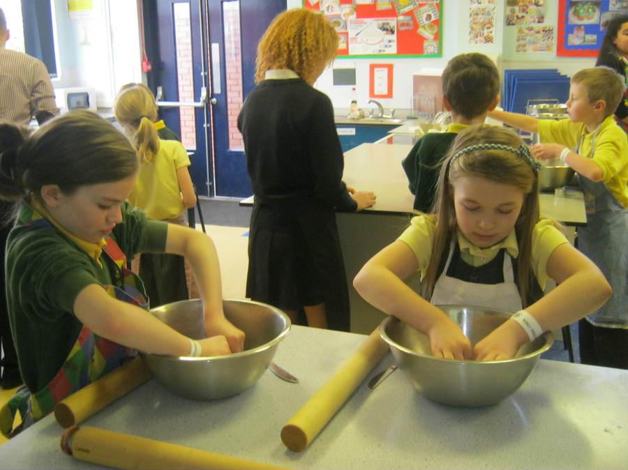 Y5 pupils at a Fairtrade workshop at Rivington and Blackrod High School