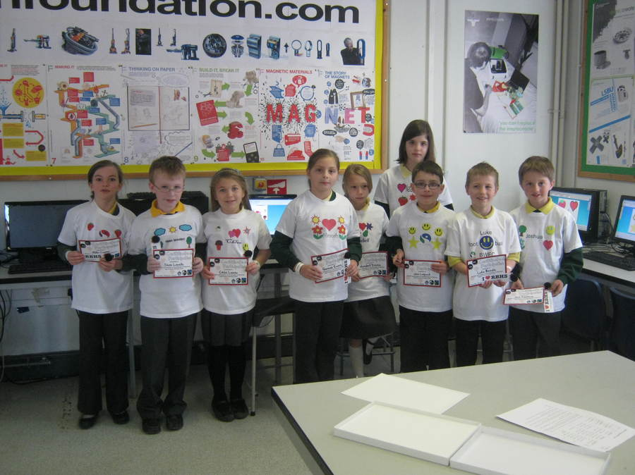 Y5 pupils with their Fairtrade cotton t-shirts