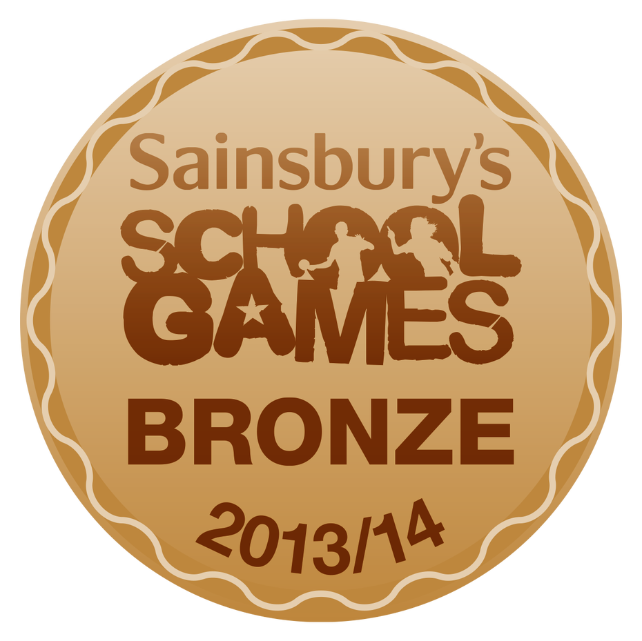 Sainsburys School Games Bronze Award 2013 2014