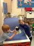 Here are two of the boys making a rocket and launcher out of junk modelling.