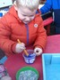 We stirred the lollies before they froze to see what they would look like.