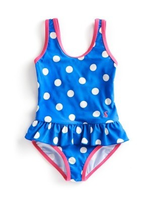 Example of girls one piece swimming costume