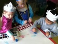 We also made coloured ice so the children could make a pretty picture with the ice cubes as frozen paints.