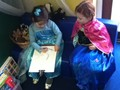 The children were given the choice to dress up in their 'Frozen' costumes.