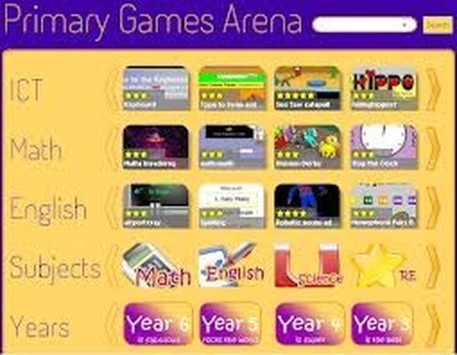 Primary Arena Maths Games