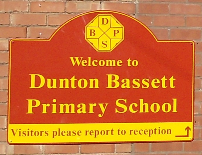 Dunton Bassett Primary School sign