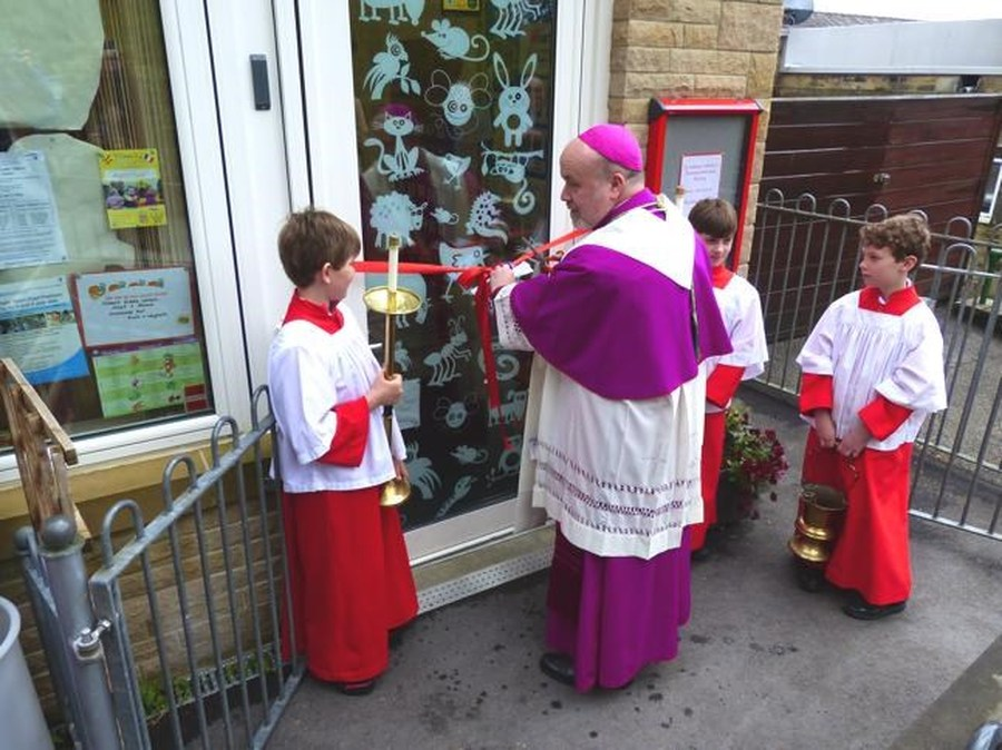 Bishop Marcus officially opens the new nursery extension