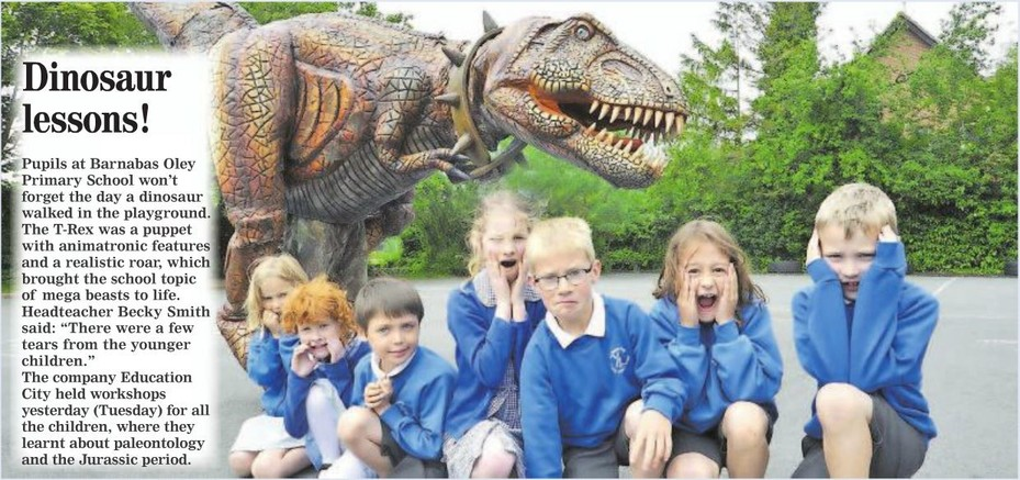 Dinosaur Visit - Hunts Post June 2015