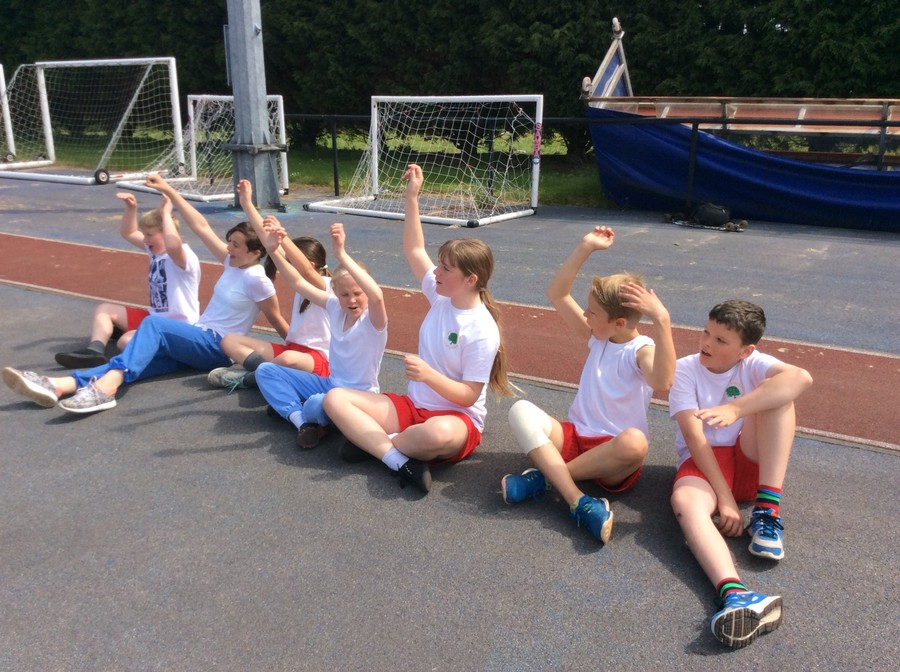 Just a few of us who took part in Athletics- we had so much fun even though it was tiring!!