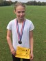First win for Mia <p>Year 6 Girl's race </p>