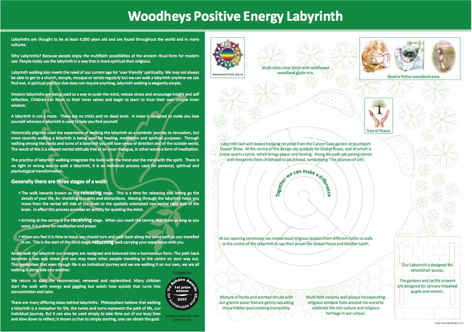 Positive energy Labyrinth