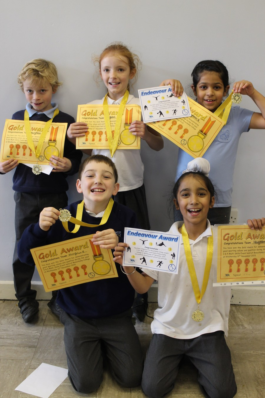 We won the GOLD AWARD at the Y3/4/ Multiskills Competition!