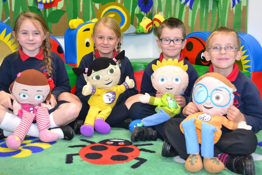 The 'Media Initiative' puppets are used to help us think about our feelings and the feelings of others.