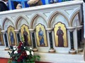 'Lovely flowers in the church' said Amanda. The children learnt St Augustine's picture is here.