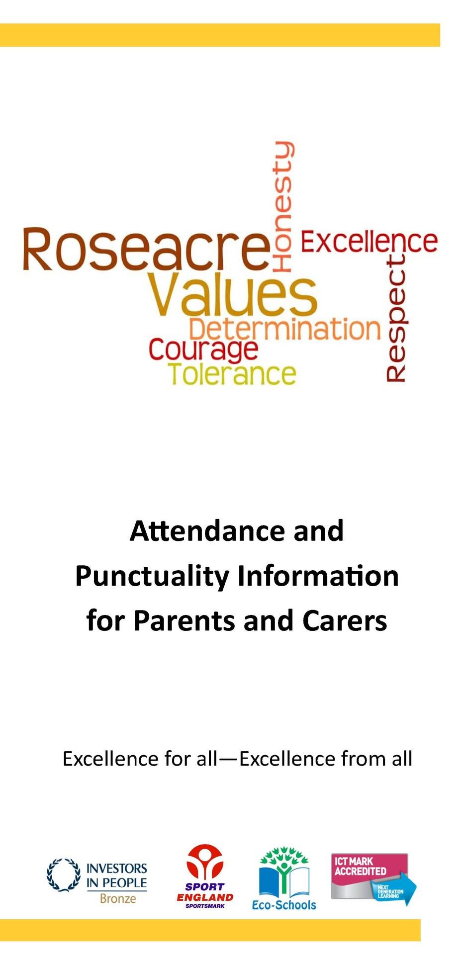Attendance Leaflet Cover