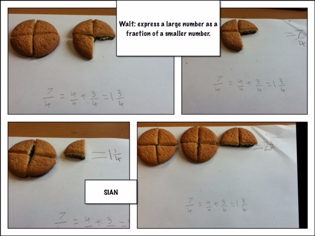 Fractions using jaffa cakes