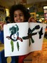 Children did fantastic paintings of monsters