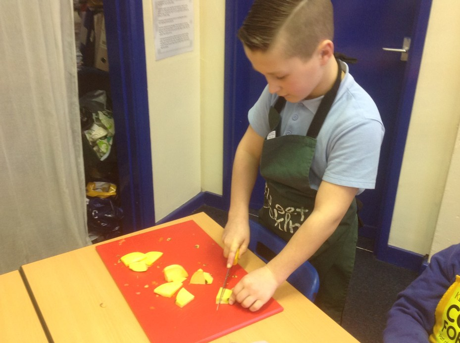 Learning cookery skills in Year 5