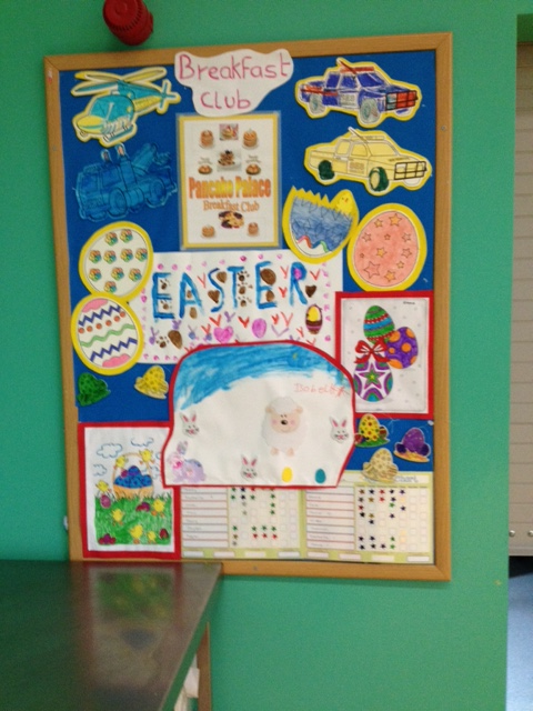 Breakfast Club Easter display