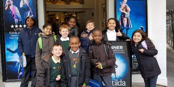 Latest News - Lucky pupils went to watch Matilda