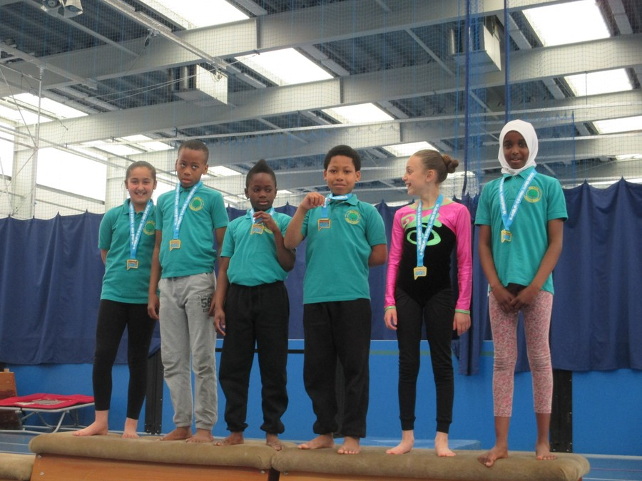 Congratulations to the Year 5 and 6 Gymnastics squad winning the level 2 competition at City Academy.