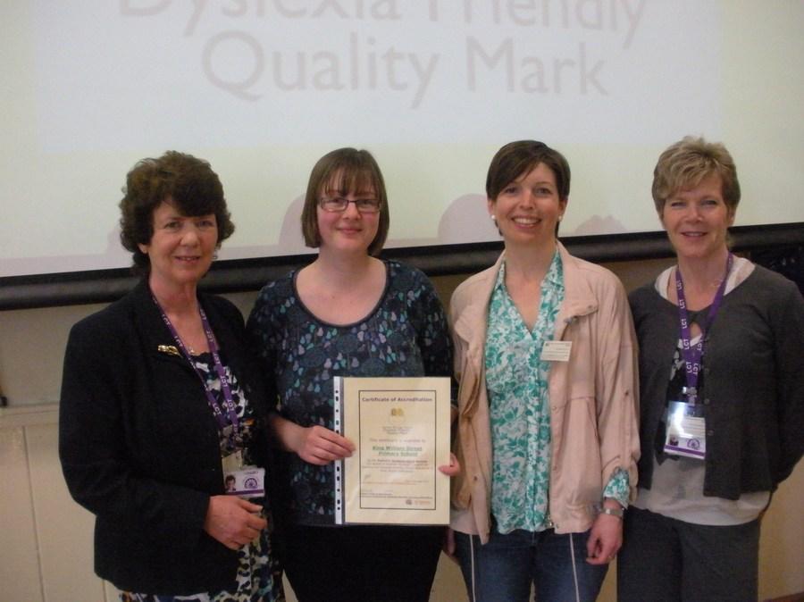 Receiving our Dyslexia Friendly Schools Award