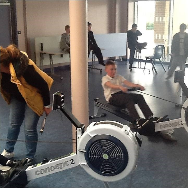 pupils from Prince Bishop School rowing to raise money for sp[orts relief