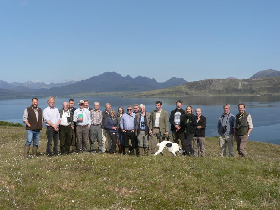 Members at the Summer Meeting on Isle of Skye, May 2016