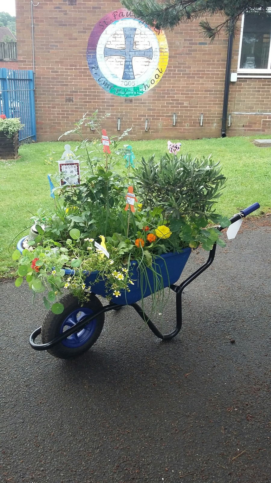 This wonderful wheelbarrow is just one of the end products achieved from the hard work put in by Mrs Rooney and the children of the Gardening Club over this year. They also took part in the recent Farmer's Market and sold produce they had grown in school and raised a fabulous total of £173.00 - enterprise towards the purchase of new produce to start again in the new year. Well done to everyone!