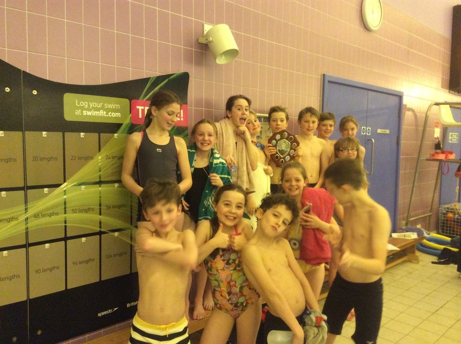 Under 11 opne Swimming team winners and development team 2nd place