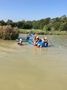 And falling off the raft which was even more fun on a sunny day!
