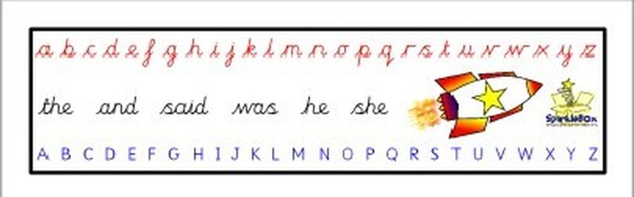 Our up-the-hill handwriting style