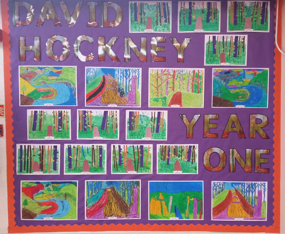 Year One Artwork David Hockney