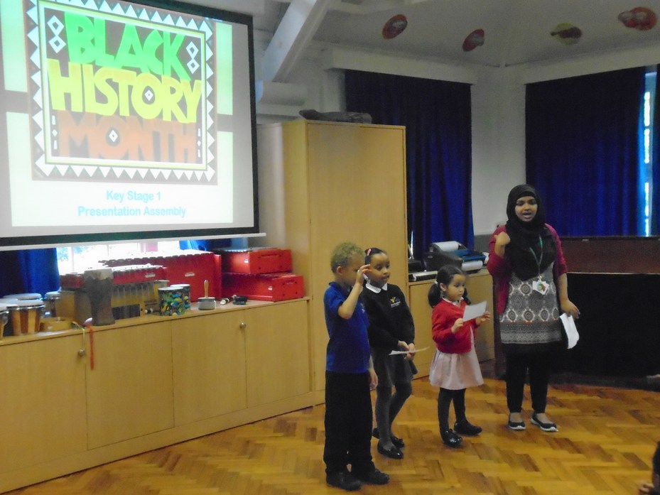 Performing in front of KS1 assembly