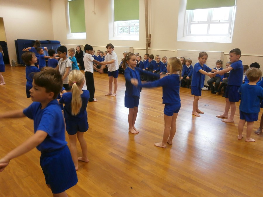 Puffin class showcase their dance