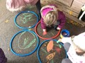 During our focus week on India and Diwali, we made rangoli patterns,