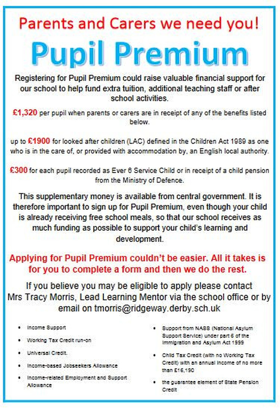 Please click for more information on Pupil Premium