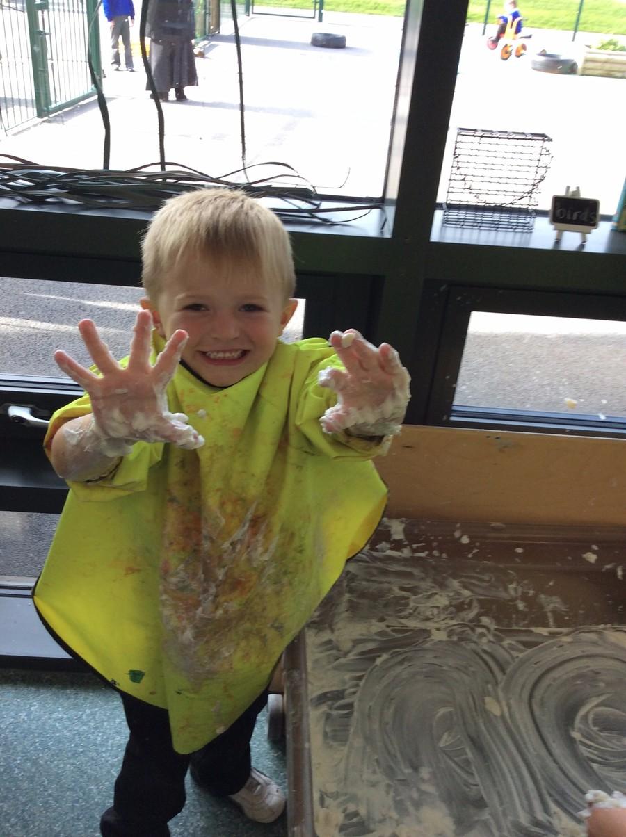 Messy Play in Nursery
