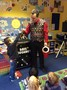 As a Christmas treat, the Nursery children were entertained by Dave Doughnut.