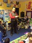He was assisted during his magic show by two of the children.